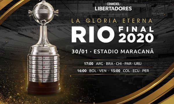 Final da Libertadores será dia 30 de janeiro no Maracanã