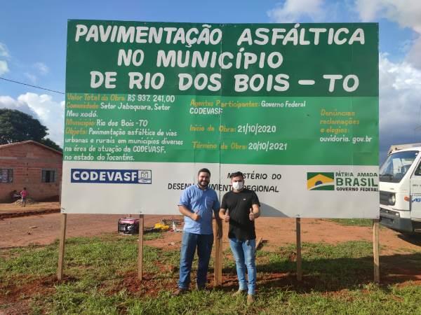 Rio dos Bois: Iniciada mais uma etapa de pavimentação dos setores Jabaquara e Meu Xodó