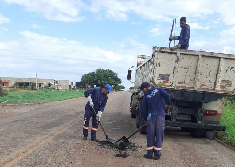 Governo do Tocantins realiza manutenção da TO-348 e outras duas rodovias no entorno de Palmas