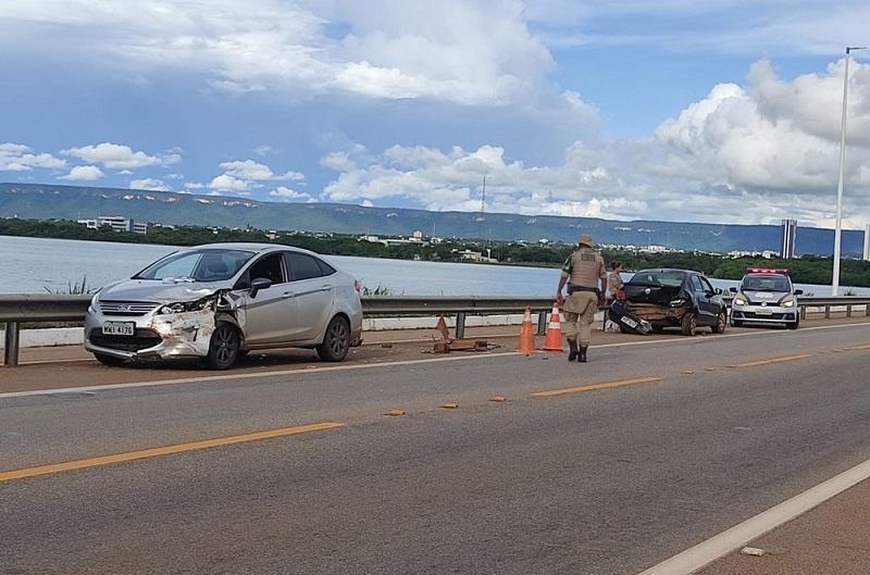 Colisão entre veículos é terceiro acidente registrado na ponte sobre o Lago de Palmas em uma semana