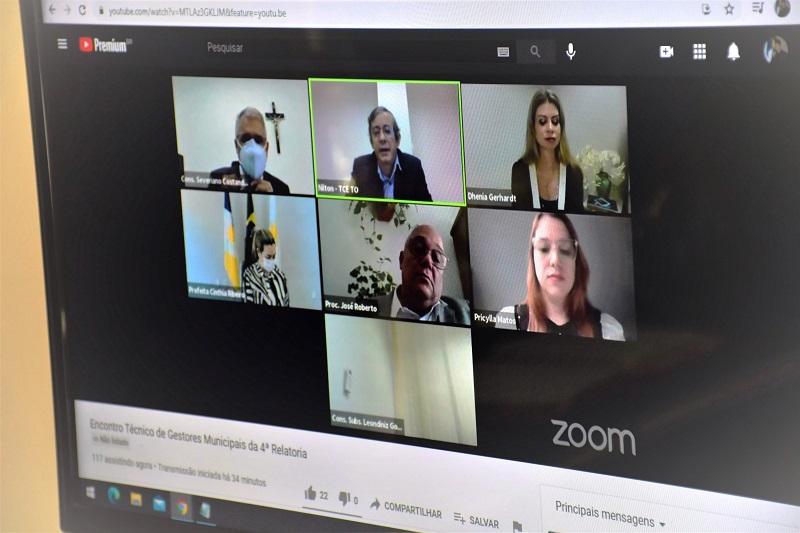 Prefeito Celso Morais participa de encontro virtual promovido pelo TCE/TO