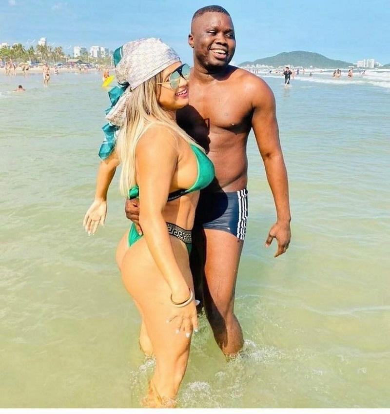 Modelo Miuke Sant se declara para o namorado: 'Apaixonada'