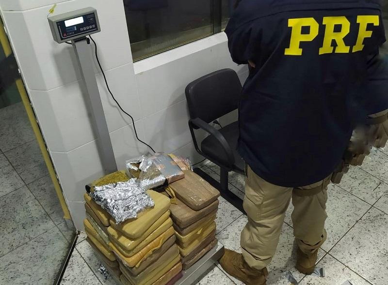Homem é preso pela PRF em Paraíso com 3 malas lotadas com maconha
