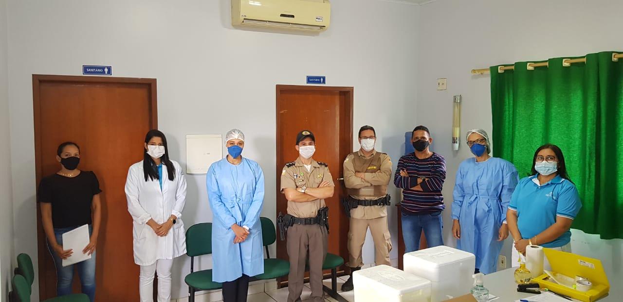 5ª CIPM inicia vacinação dos policiais militares em Tocantinópolis