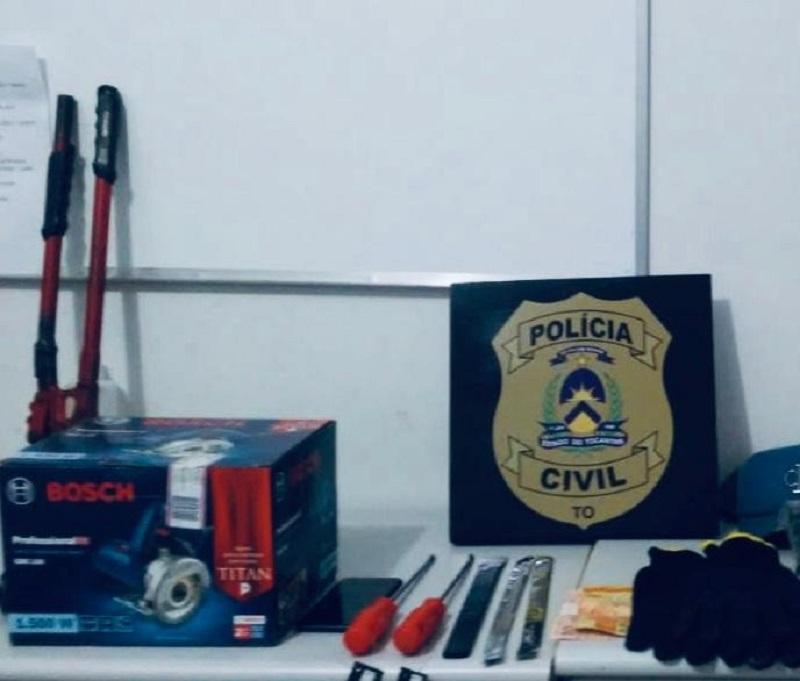 Suspeito de praticar crimes contra o patrimônio em Guaraí é preso pela Polícia Civil