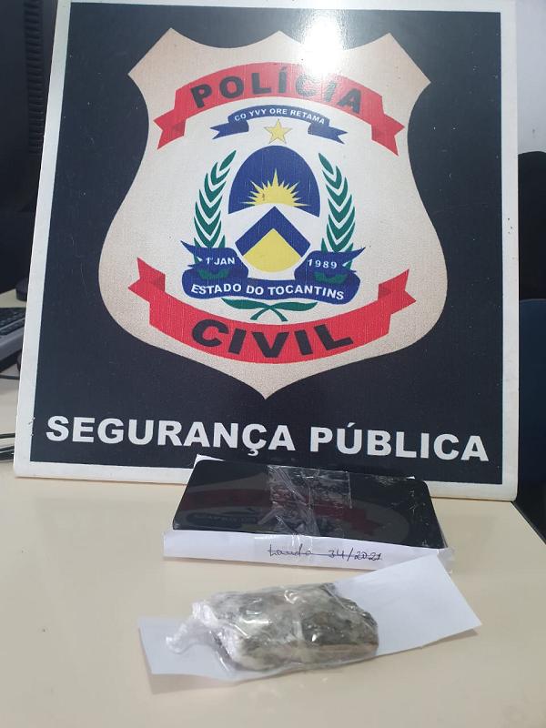 Homem suspeito por tráfico de drogas é preso pela Polícia Civil em Miracema