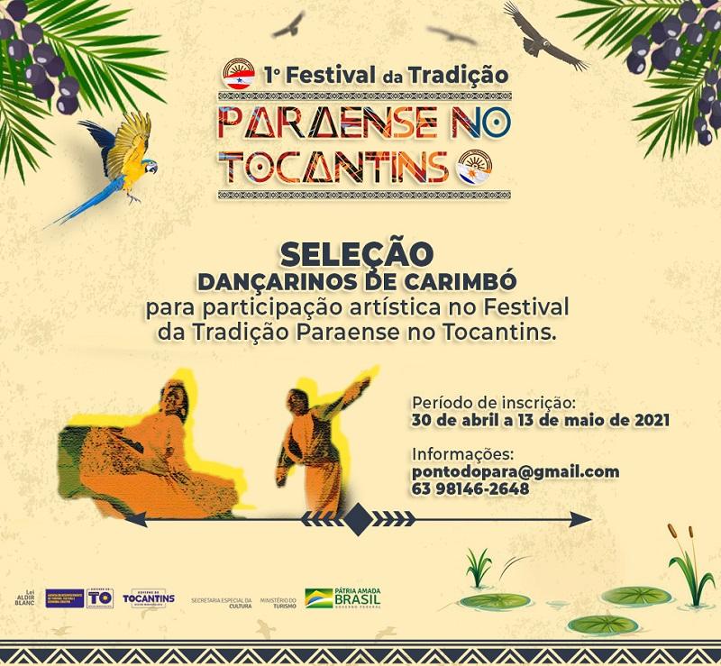 Adetuc apoia Festival Paraense no Tocantins que seleciona dançarinos para a dança do Carimbó