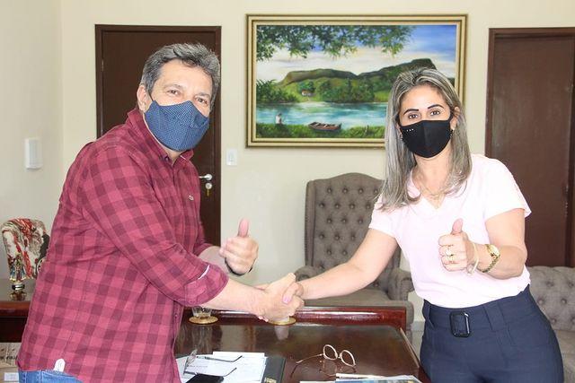 Damaso recebe prefeita de Goianorte e comunica indicação de recursos para o município