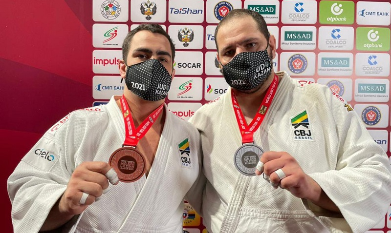 Judô do Brasil fecha Grand Slam de Kazan com 2 pratas e 3 bronzes