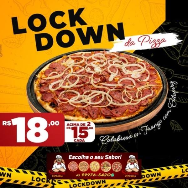 'Lockdown' da Pizza: Serrana anuncia pizzas grandes a partir de 15 reais
