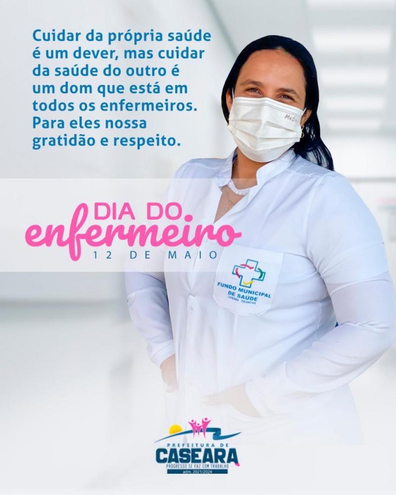 Prefeitura de Caseara veicula nota de gratidão no Dia do Enfermeiro