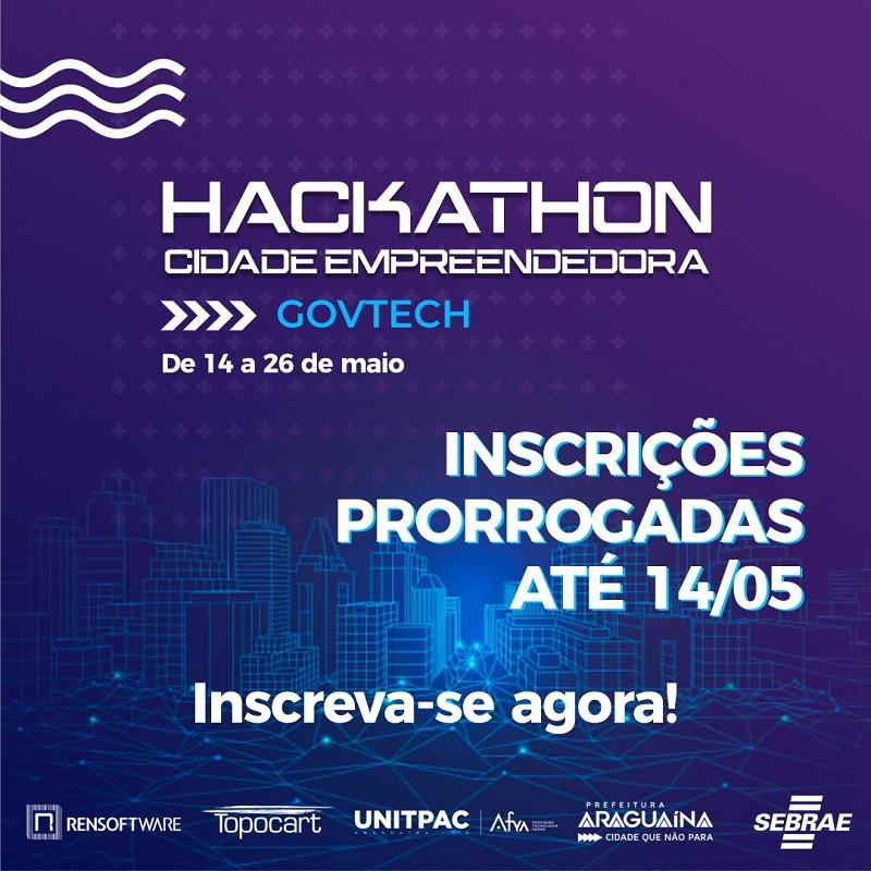 Prorrogadas as inscrições para o Hackathon Cidade Empreendedora em Araguaína
