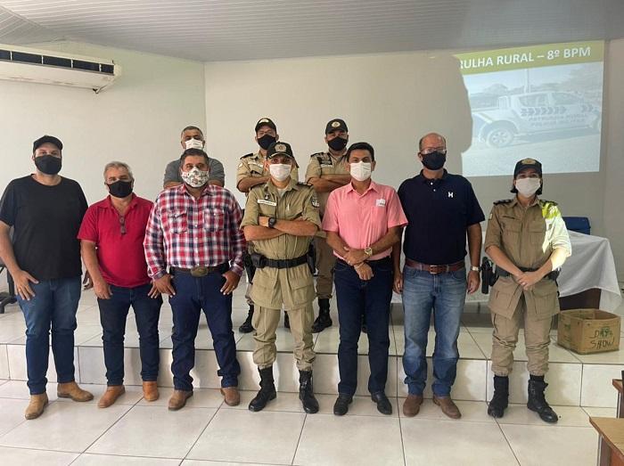 Sindicato Rural e agropecuaristas de Paraíso se reúnem com 8º BPM em busca da Patrulha Rural para o município