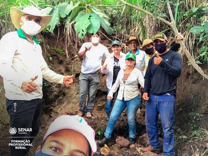 SENAR capacita produtores rurais no curso Recuperação de Nascentes em Barrolândia