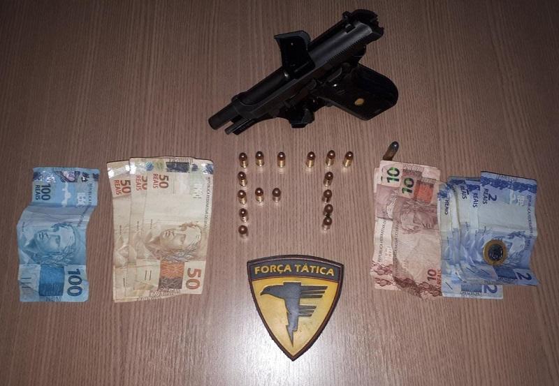 Polícia Militar prende dois homens por porte ilegal de arma de fogo em Paraíso