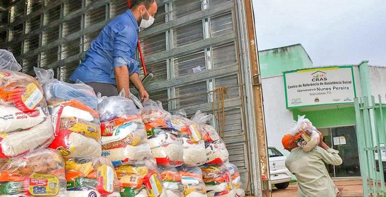Mais de 2 mil famílias de 11 municípios são beneficiadas em nova etapa de entrega de cestas básicas