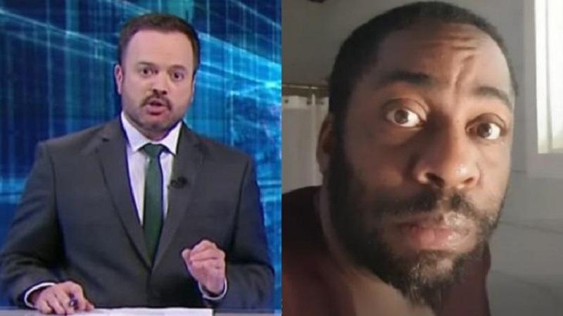 """Vídeo: Lázaro Ramos reage a gafe após ser """"confundido"""" com serial killer em emissora de TV"""