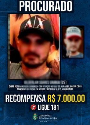Polícia de SP prende procurado por 6 homicídios cometidos no Ceará