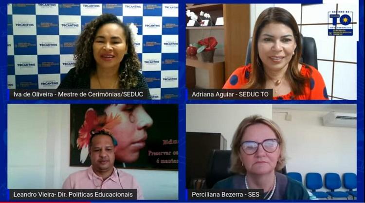 Diretores Regionais de Educação e gestores da rede estadual participam de reunião sobre vacinação