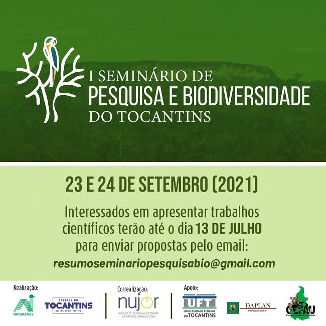 Seminário de Pesquisa e Biodiversidade recebe trabalhos científicos até dia 13/07