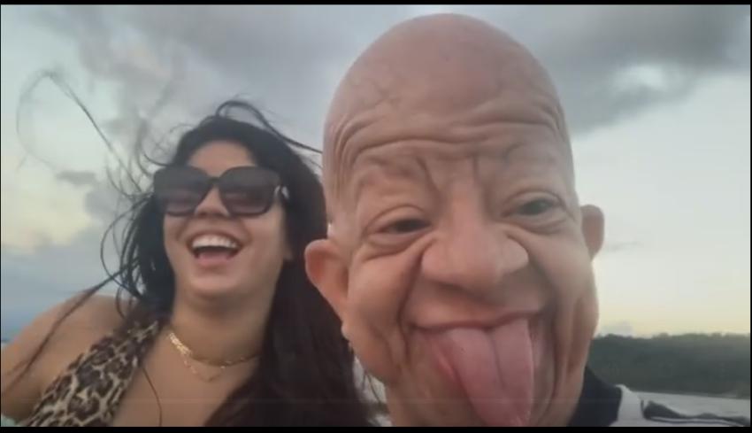 """Após ter vídeo íntimo vazado, namorada do influencer Bruno diz que """"sexo oral e copo d'água não se nega a ninguém"""""""