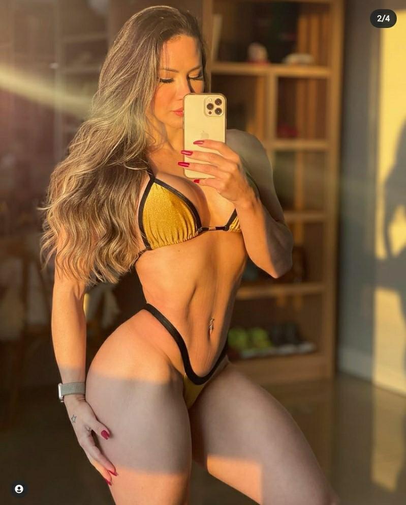 Musa Fitness Francielle Mattos ostenta shape impecável nas redes sociais