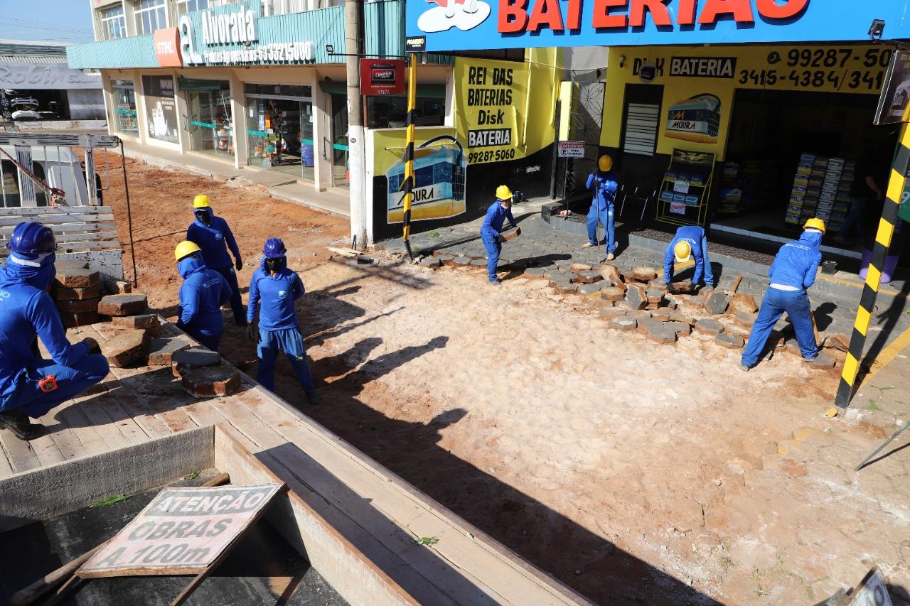 Prefeitura inicia implantação de calçadas com acessibilidade em avenida de Araguaína TO