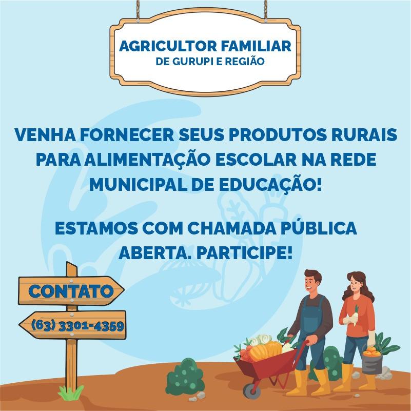 Prefeitura de Gurupi faz chamada pública para alimentação escolar