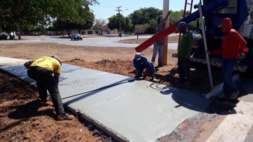 Prefeitura de Palmas executa melhorias para mais acessibilidade nas avenidas NS-04 e LO-02