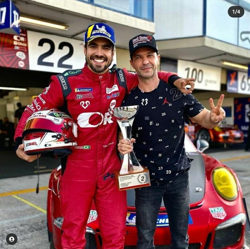 Sandro Andrade publica foto ao lado do ator Caio Castro após corrida