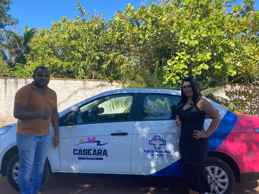 Saúde de Caseara recebe novo veículo para transporte de pacientes