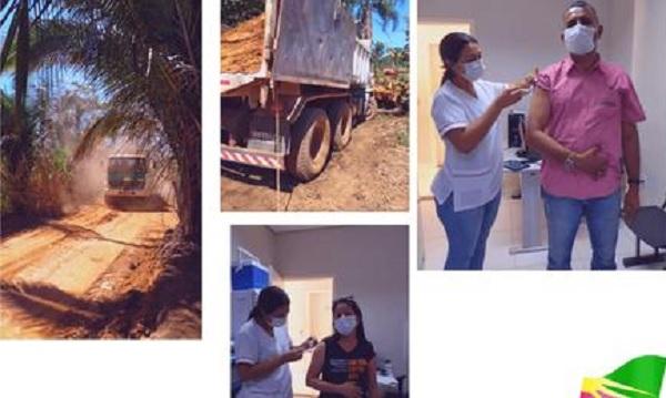Prefeito Enoque, de Nova Rosalândia, inspeciona obras de infraestrutura no assentamento Padre Josimo