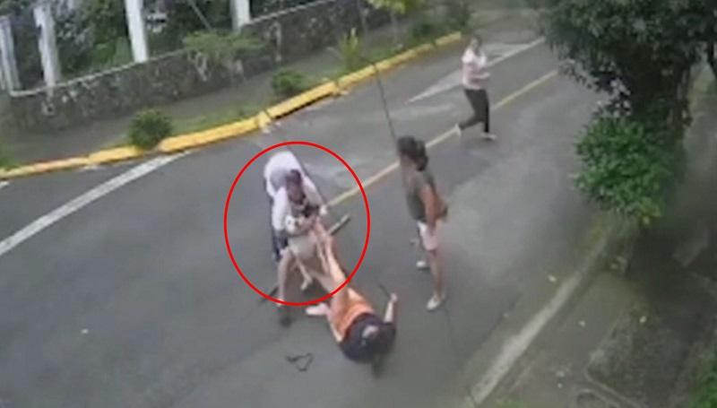 Homem salva mulher de ataque de pitbull com golpe de 'mata-leão'; assista