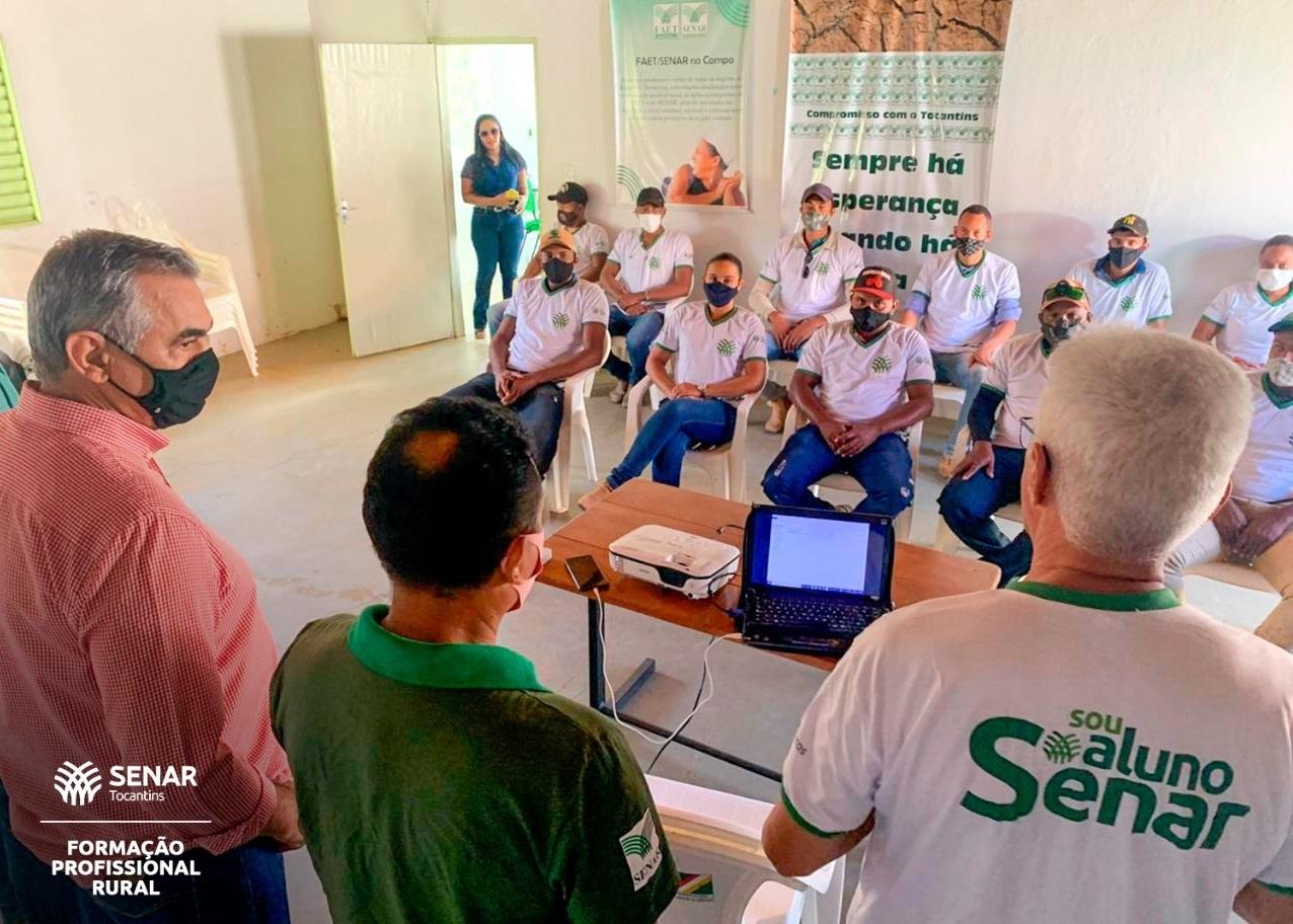 FAET/SENAR realiza curso de Operação e Manutenção de Tratores agrícolas em Ponte Alta do Bom Jesus