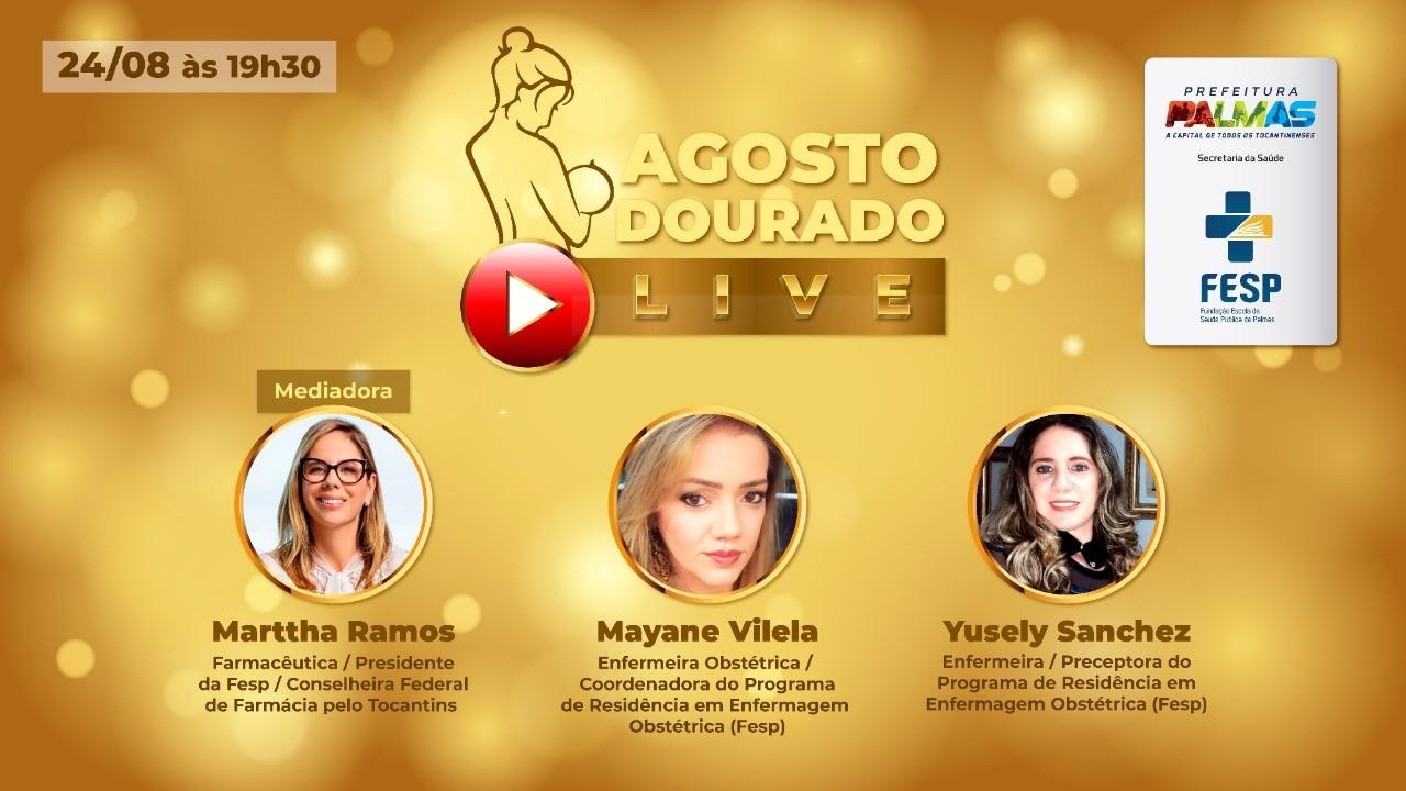 Live sobre Agosto Dourado promovida pela Fesp fecha o mês que trata do aleitamento materno