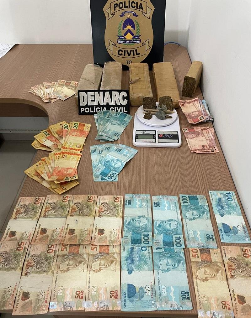 Três pessoas suspeitas por tráfico de drogas são presas em Araguaína