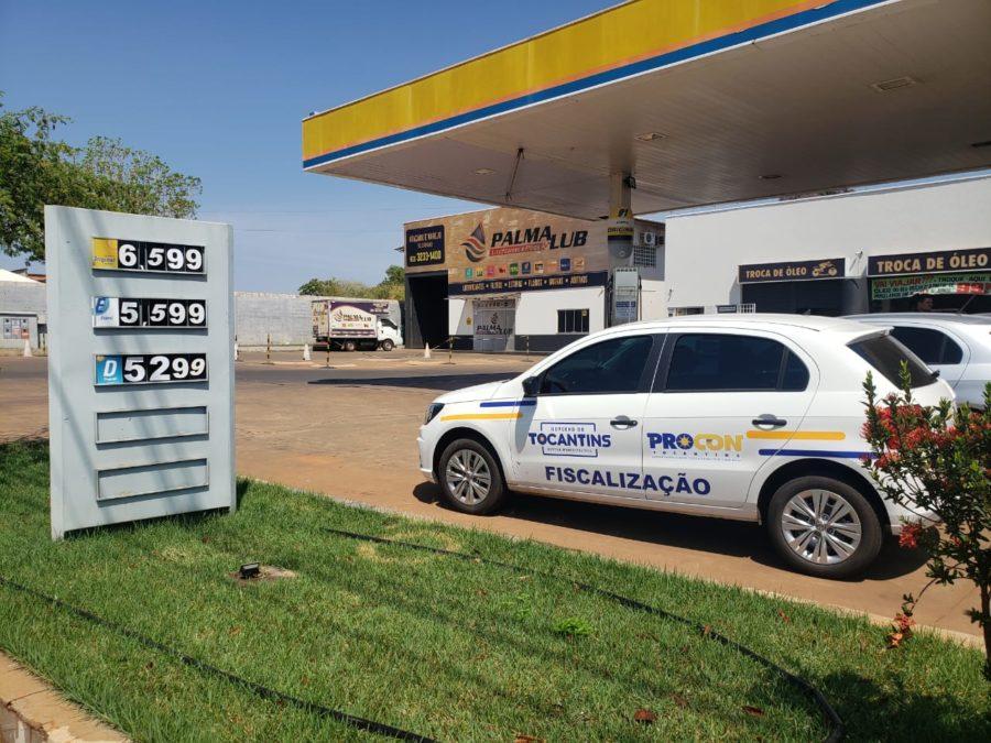Procon Tocantins autua postos de combustível em Araguaína e Palmas por aumento sem justificativa