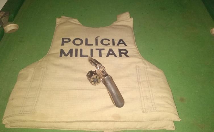 Revólver é apreendido em Formoso do Araguaia: um homem foi preso pela PM