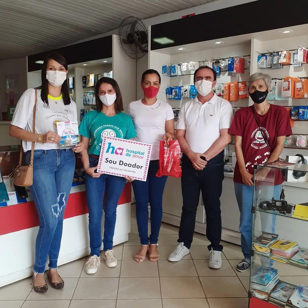 ACIP, parceiros e voluntários realizam caminhada pelo comércio de Paraíso em prol do Hospital de Amor
