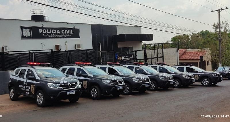 Carreata em Paraíso-TO apresenta nova frota de veículos da Polícia Civil