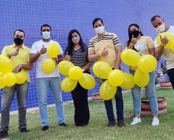 Estudantes da rede estadual de Palmas recebem acolhimento alusivo à campanha Setembro Amarelo