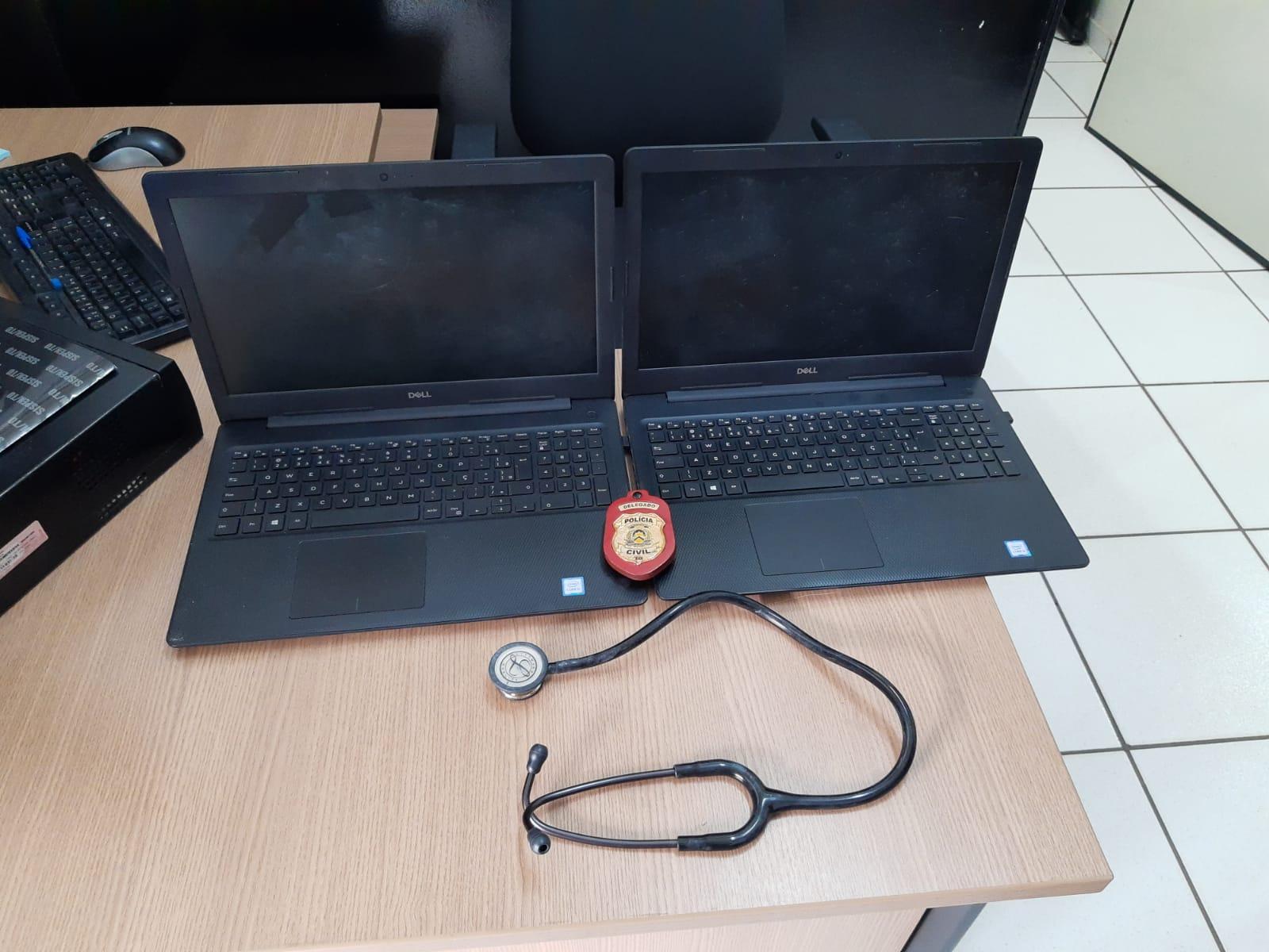 Computadores e aparelho hospitalar furtados e avaliados em mais de R$ 11 mil reais são recuperados pela Polícia Civil em Araguaína