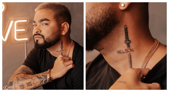 Yudi Tamashiro faz tatuagem para homenagear o pai vítima de Covid-19