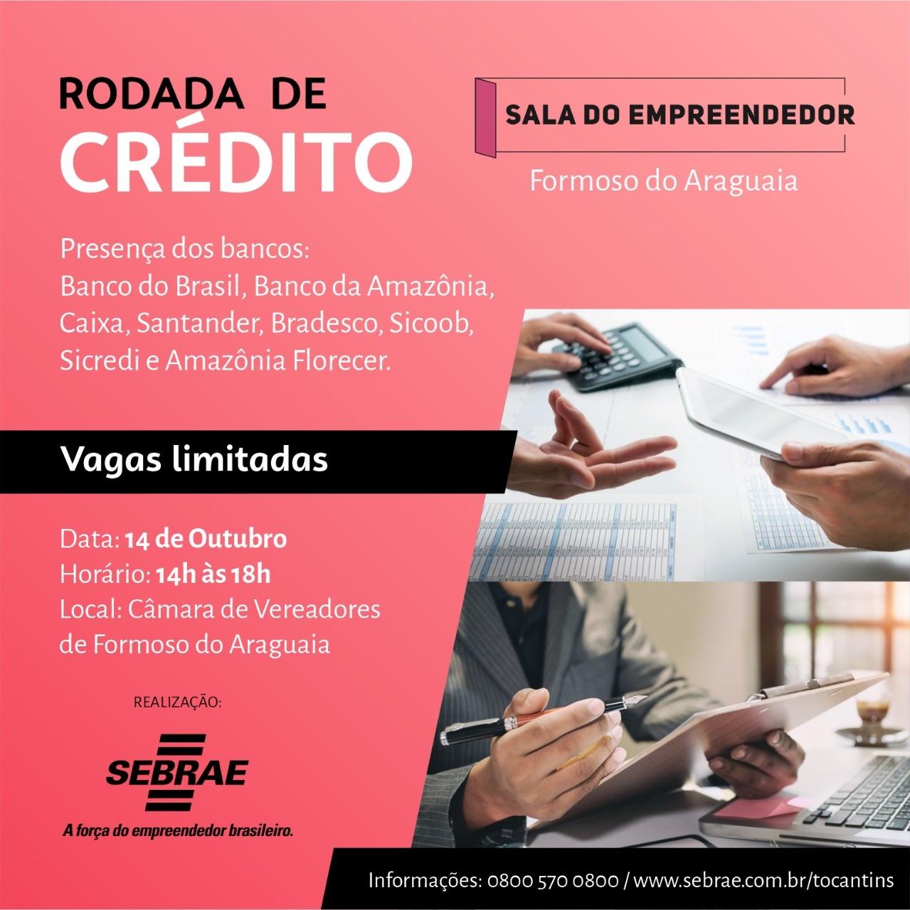 Formoso do Araguaia recebe Rodada de Crédito do Sebrae nesta quinta, 14