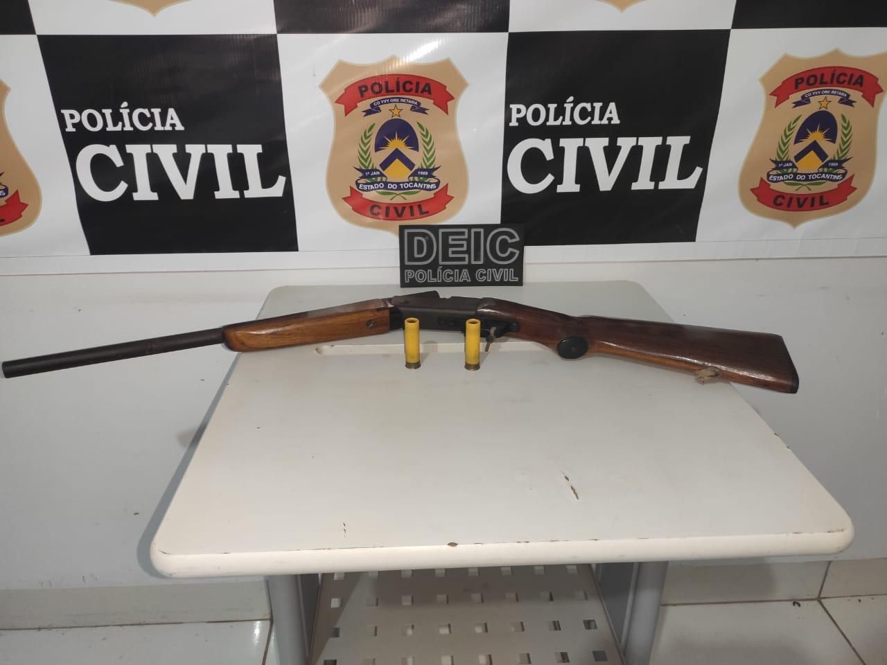 Homem investigado pela Polícia Civil por maus tratos é preso por posse irregular de arma de fogo no Sul do Estado