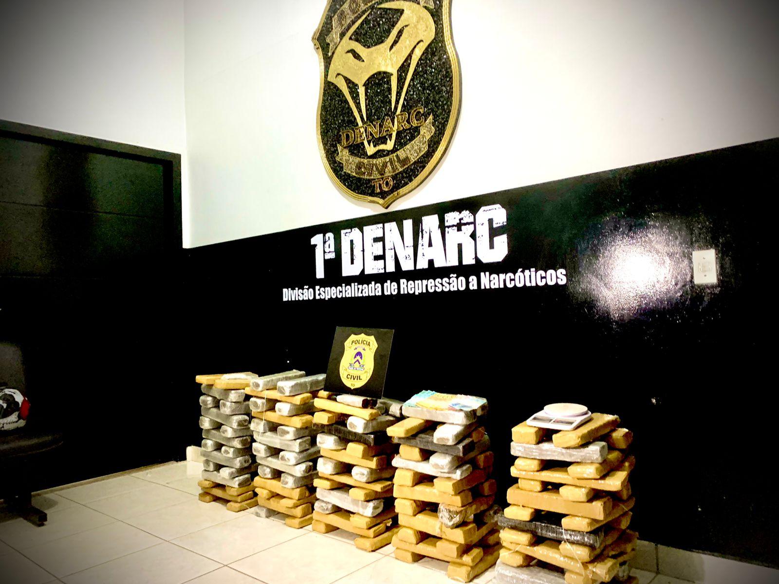 Em Palmas, 1ª DENARC deflagra a operação Subversio e apreende 110kg de drogas