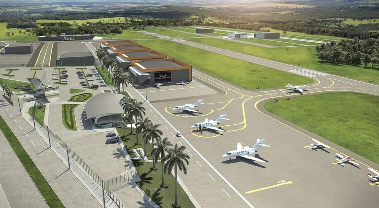 Novo polo aeronáutico da região metropolitana de Goiânia apresenta andamento das obras