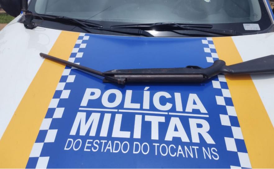 Polícia Militar prende homem por porte ilegal de arma de fogo em Araguaçu
