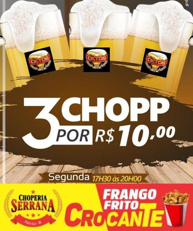 Recém inaugurada em Paraíso, Choperia Serrana oferece 3 chopes por 10 reais