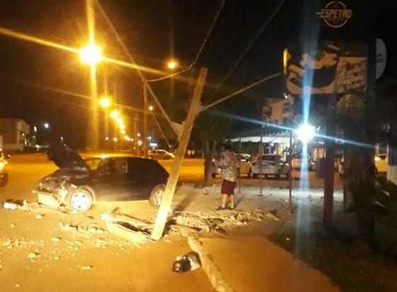 Tocantins registra quase dois acidentes por dia envolvendo postes